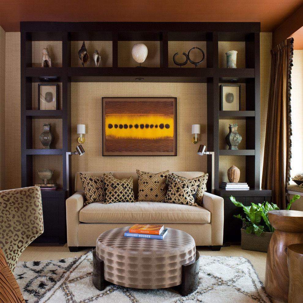 Дизайн полок для гостинной